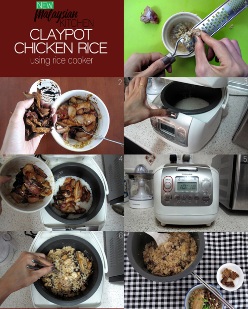Easy Claypot Chicken Rice In Rice Cooker 6 Ingredients New Malaysian Kitchen