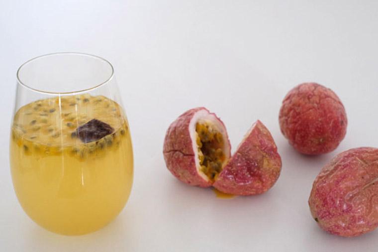 passion fruit & plum drink