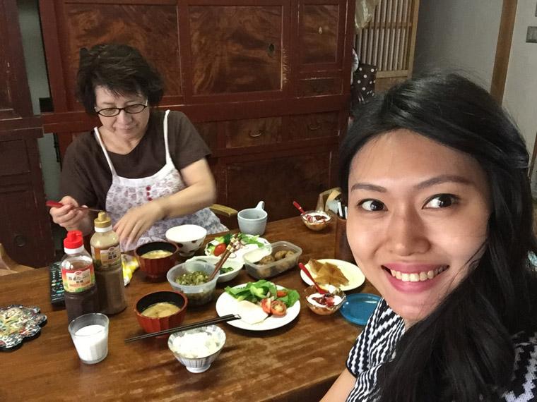 breakfast with okaasan at komatsu