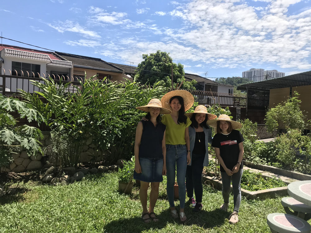 Put on straw hats to explore my edible garden