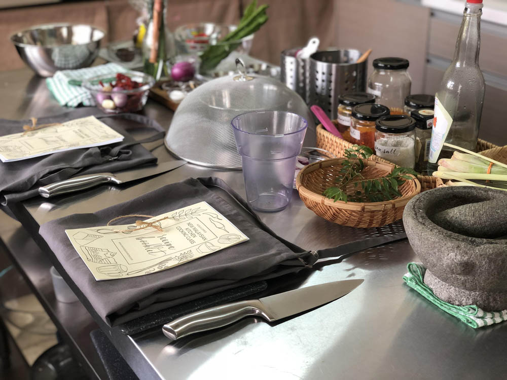 Get a  ecipe book and use antique pestle & mortar