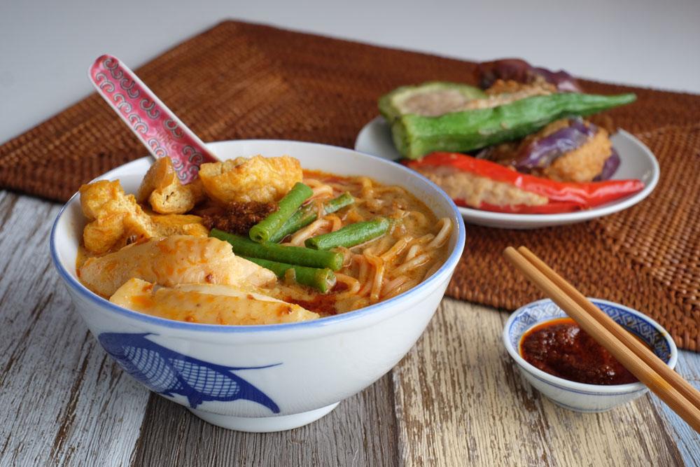 curry laksa yong tau foo