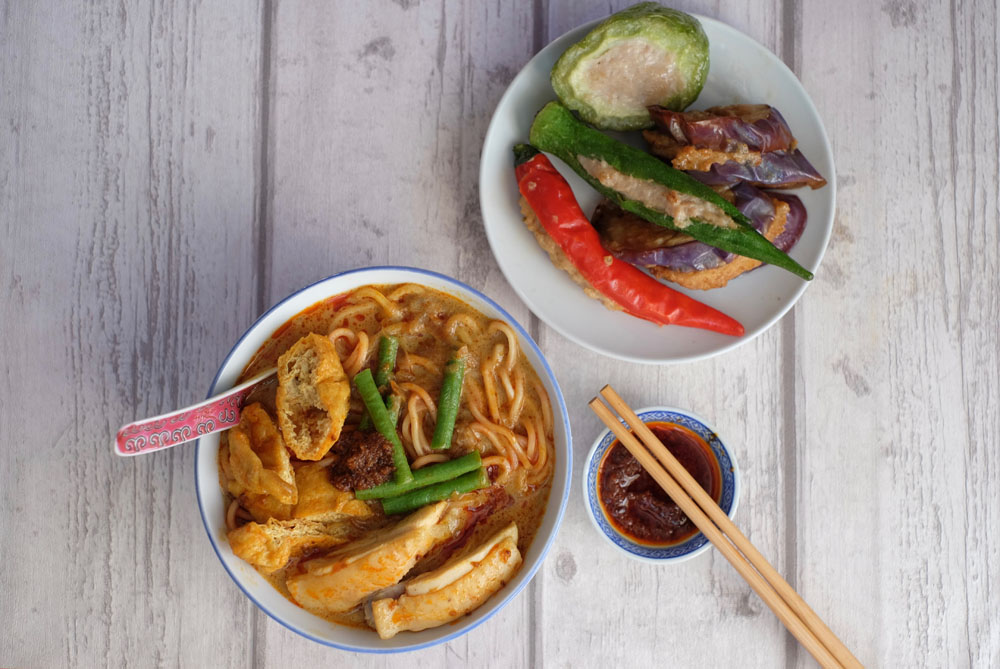 Enjoy homemade curry laksa mee and yong tau foo with a local family