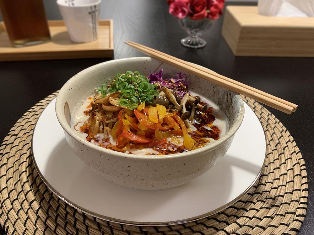 vegan ramen at washo cooking 1
