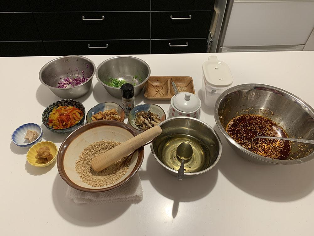 vegan ramen washo cooking ingredients