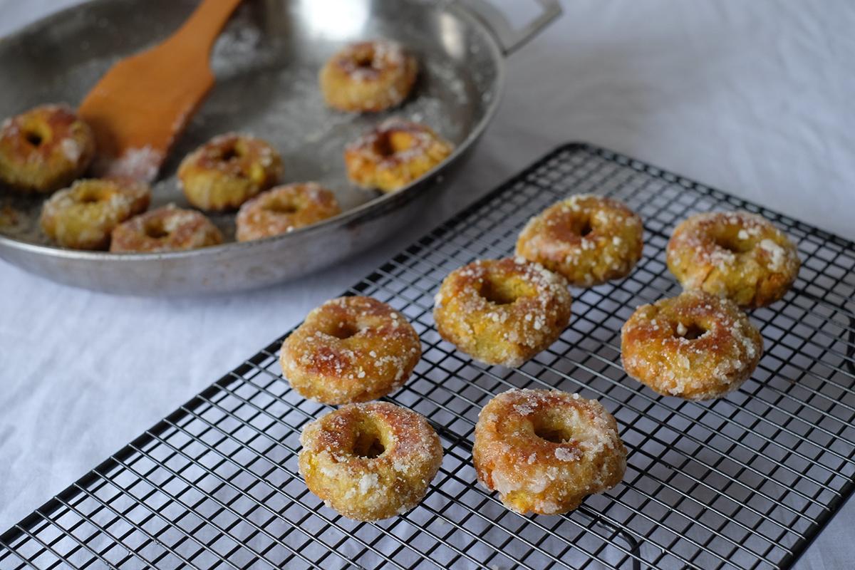 Kuih Keria, a Malaysian-style doughnut made from sweet potato